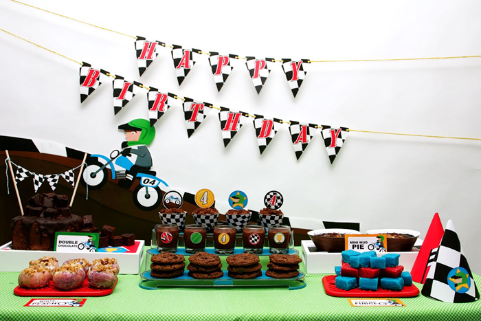 Motorcross Dirt Bike Motorcycle Birthday Party