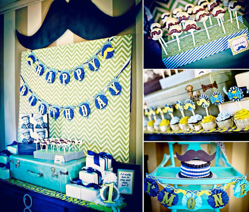 Karas Party Ideas 1st Birthday Boy Little Man Mustache Bash Party