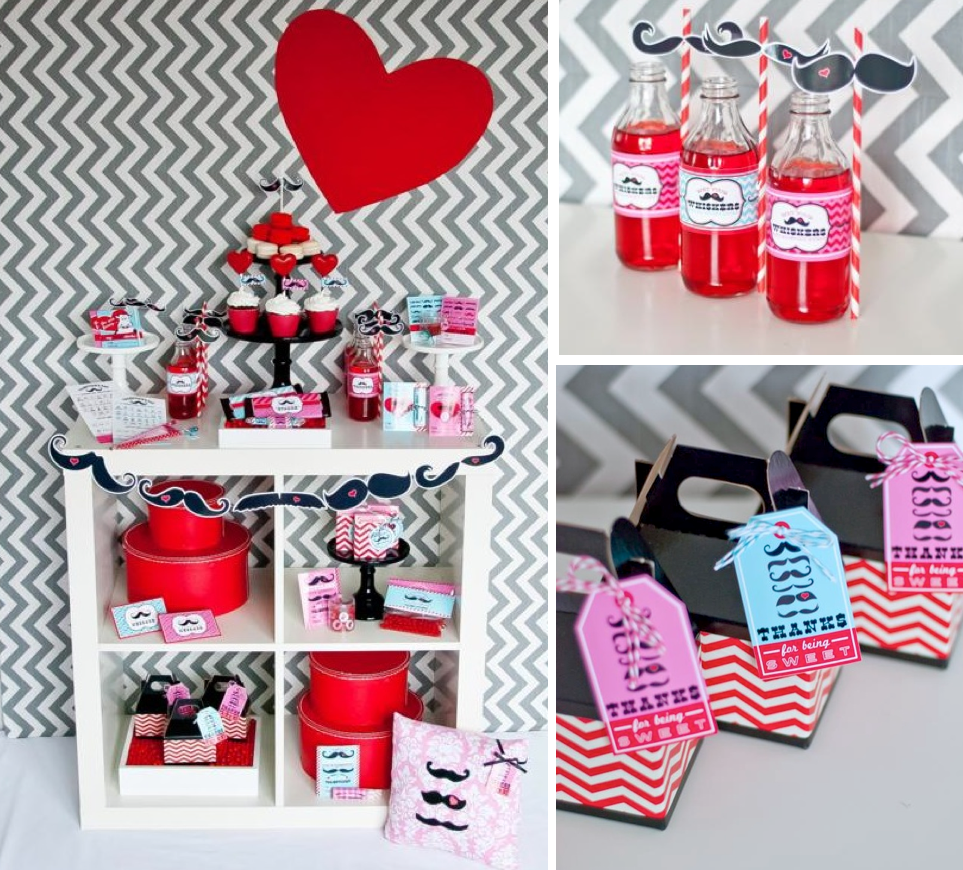 Kara S Party Ideas Mr Miss Boy Girl Mustache Valentine S Day Party