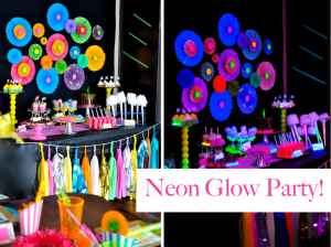 Neon Glow in The Dark Themed Birthday Party via Kara's Party Ideas www.KarasPartyIdeas.com