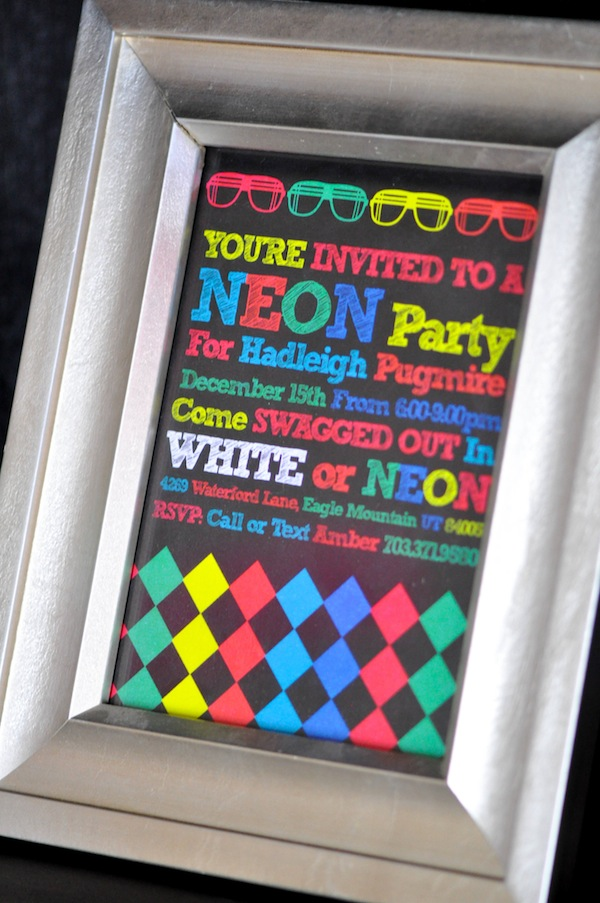 Karas Party Ideas Neon Glow In The Dark Teen Birthday Party – Disco Party Invitation Ideas