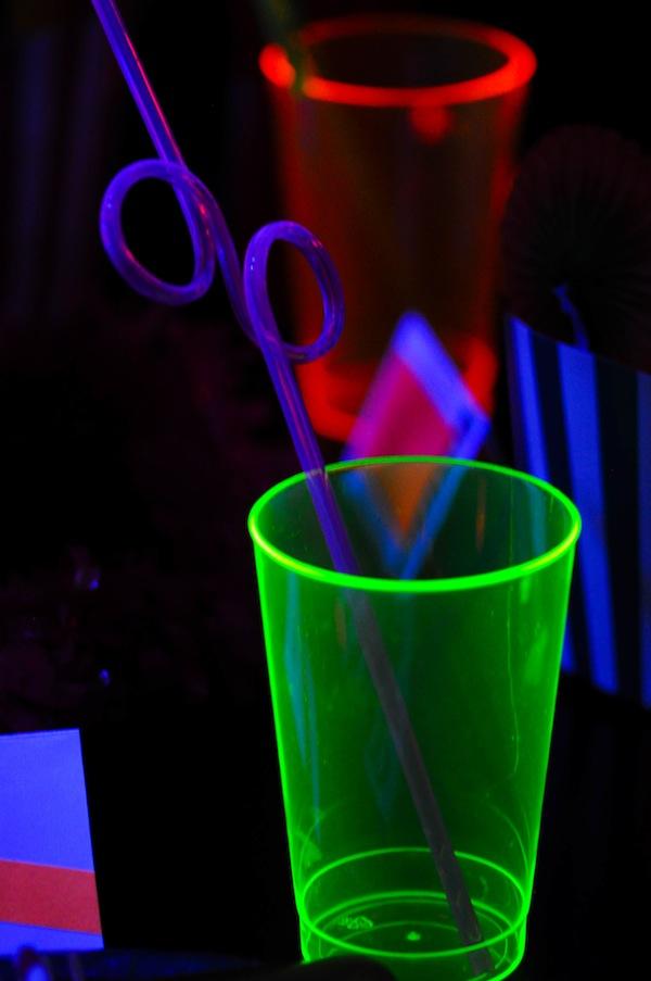 pin neon glow in the dark tween dance girl birthday party. Black Bedroom Furniture Sets. Home Design Ideas
