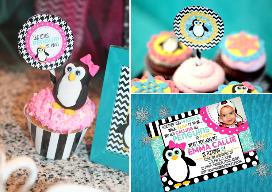 Karas Party Ideas Peguin Winter Girl 2nd Birthday Planning