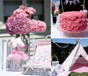 Pink Fairy themed 1st birthday party via Kara's Party Ideas karaspartyideas.com #fairy #pink #birthday #party #idea