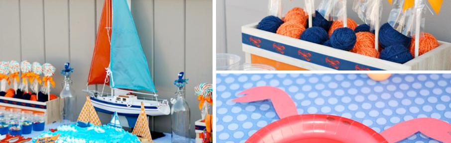 Preppy Beach themed birthday pool party via Kara's Party Ideas karaspartyideas.com #beach #party #ideas #pool
