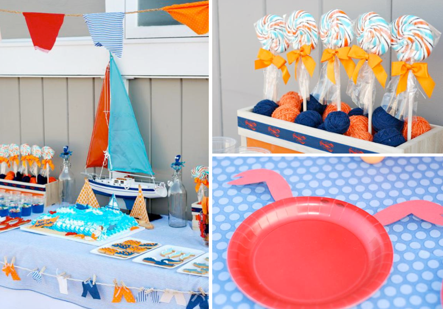 Beach Themed Party Decorating Ideas Part - 15: Karau0027s Party Ideas Preppy Beach Swim Pool Surf Boy Girl Birthday Party  Planning Ideas