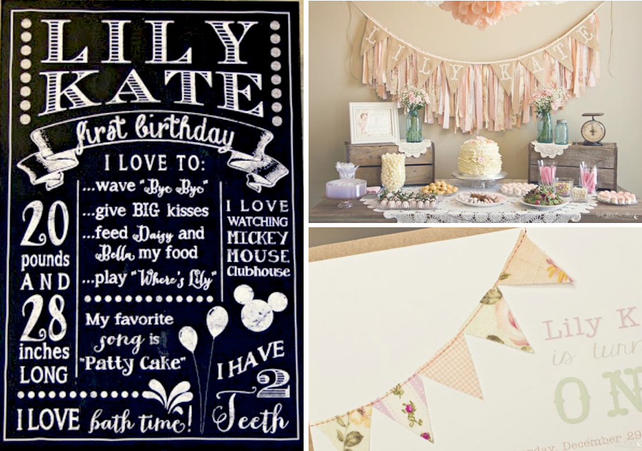 Karas Party Ideas Shabby Chic Girl Vintage 1st Birthday Party