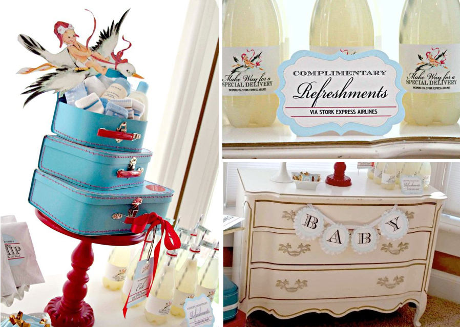 ... Baby Shower via Kara's Party Ideas karaspartyideas.com #stork #baby #