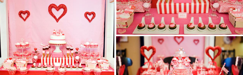 Sweet love valentine's day party via Kara's Party Ideas karaspartyideas.com @love #valentine's #day #party #ideas