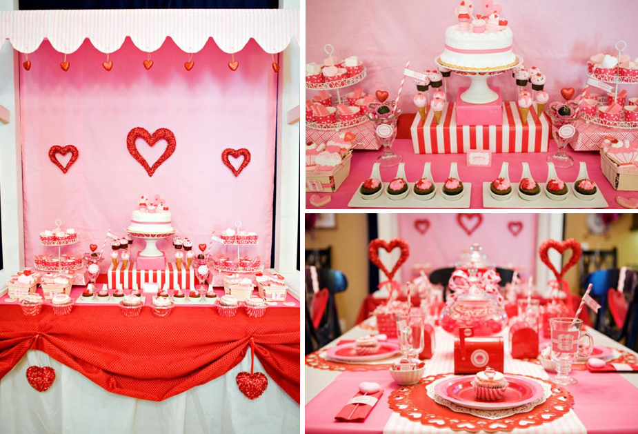 Kara 39 s party ideas sweet valentine 39 s day girl boy party for Valentines dinner party ideas