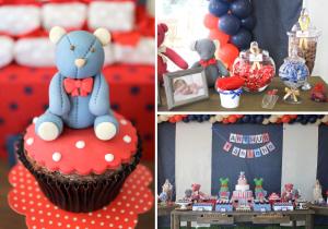 Teddy Bear 1st Birthday Party via Kara's Party Ideas karaspartyideas.com #teddy #bear #birthday #party #ideas