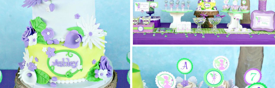 TinkerBell Fairy Themed 7th Birthday Party