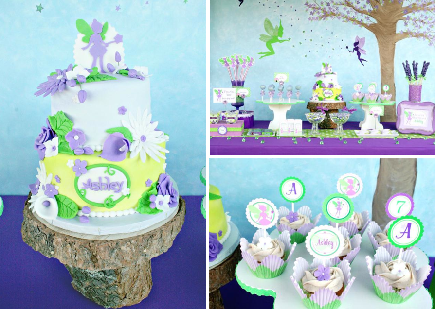 Karas Party Ideas Disney Tinkerbell Fairy Pixie Girl 7th Birthday Planning