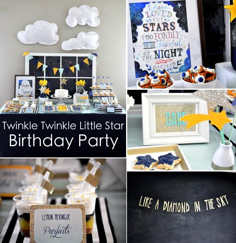 Kara's Party Ideas Twinkle Star Space 2nd Birthday Little