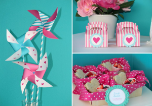 Valentine Valentine's day tea party via Kara's Party Ideas karaspartyideas.com #valentine's #valentine #tea #party #pinwheel #ideas