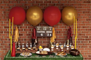 Vintage Football Tailgating party via Kara's Party Ideas karaspartyideas.com #super bowl #party #football #ideas