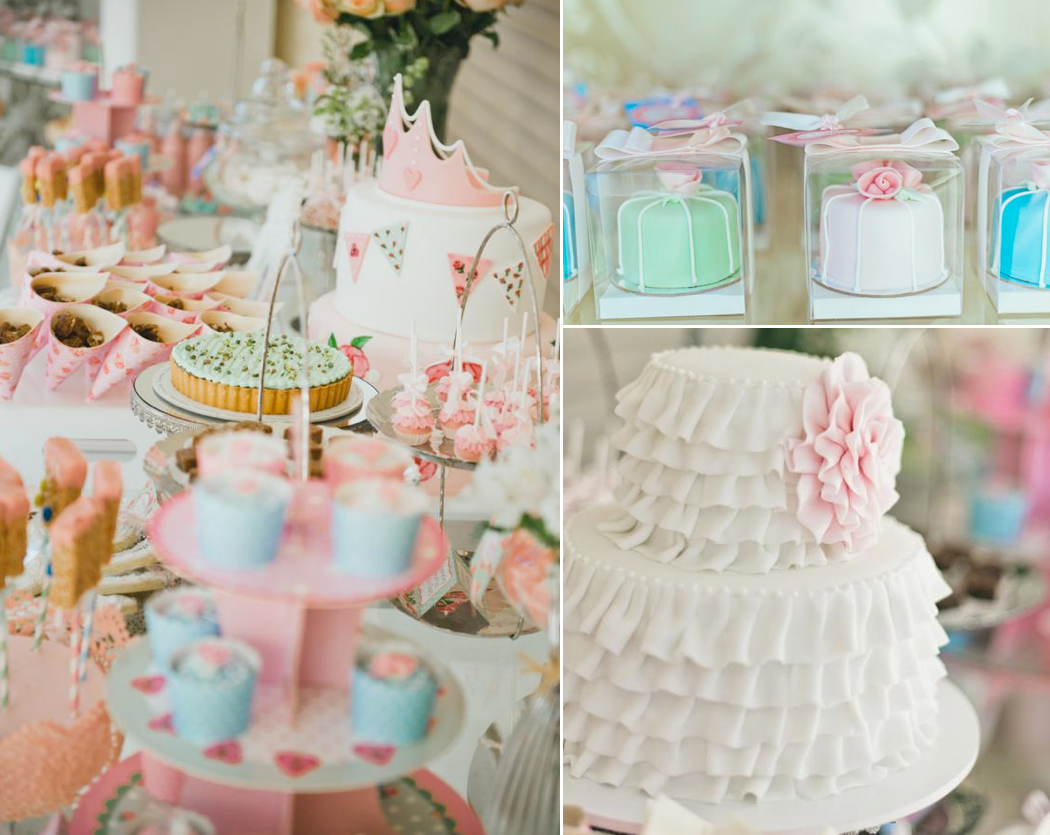 Karas Party Ideas Vintage Princess Girl Shabby Chic 4th Birthday