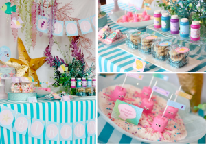 Whimsical Mermaid under the sea themed birthday party via Kara's Party Ideas karaspartyideas.com #mermaid #sea #birthday #party #ideas