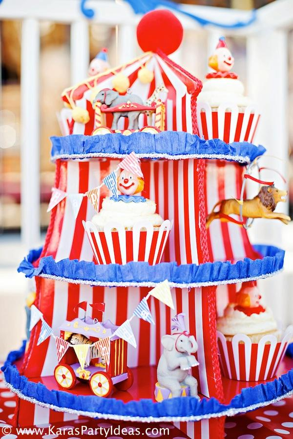 Karas Party Ideas Circus Train Big Top Vintage Carnival Carousel