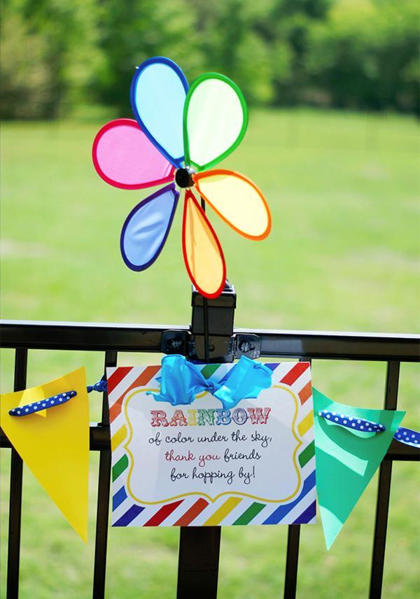 Kara S Party Ideas Rainbow Easter Hop Girl Boy Colorful