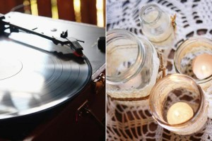 record player & candle_600x400