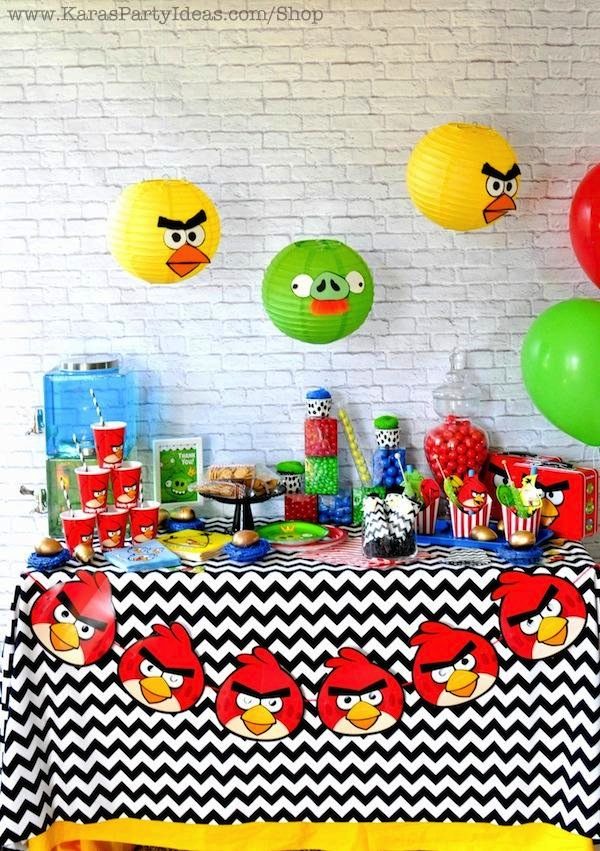 Karas Party Ideas Angry Birds Themed Birthday Party Planning – Angry Birds Party Invitations