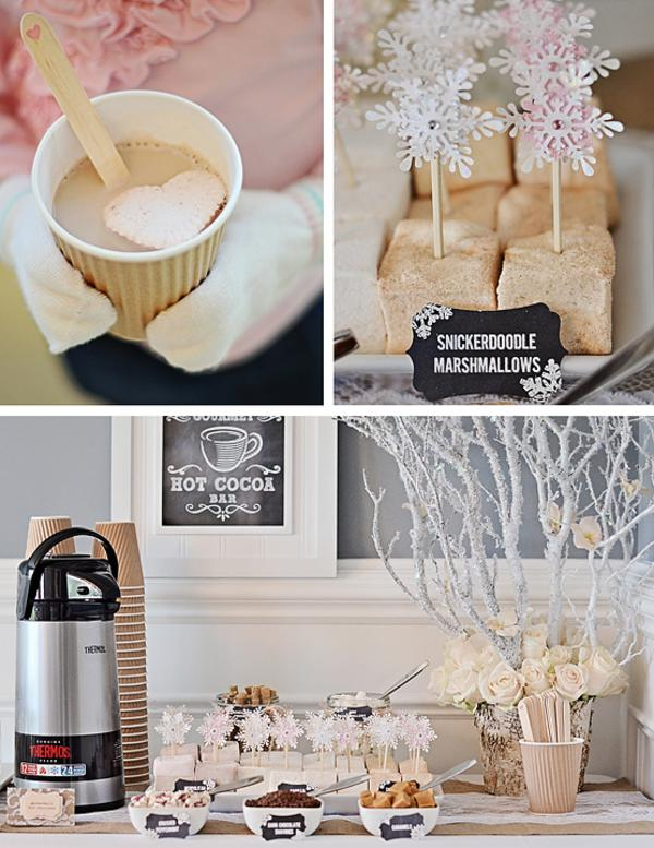 Karas Party Ideas Rustic Shabby Winter Wonderland Girl 1st Birthday