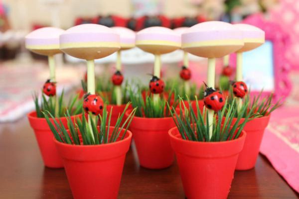 Karas Party Ideas Woodland Owl Bug Flower Garden Girl Birthday