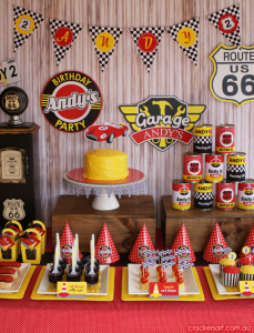 Vintage Race Car Birthday Party via Kara's Party Ideas karaspartyideas.com #race #car #party #ideas