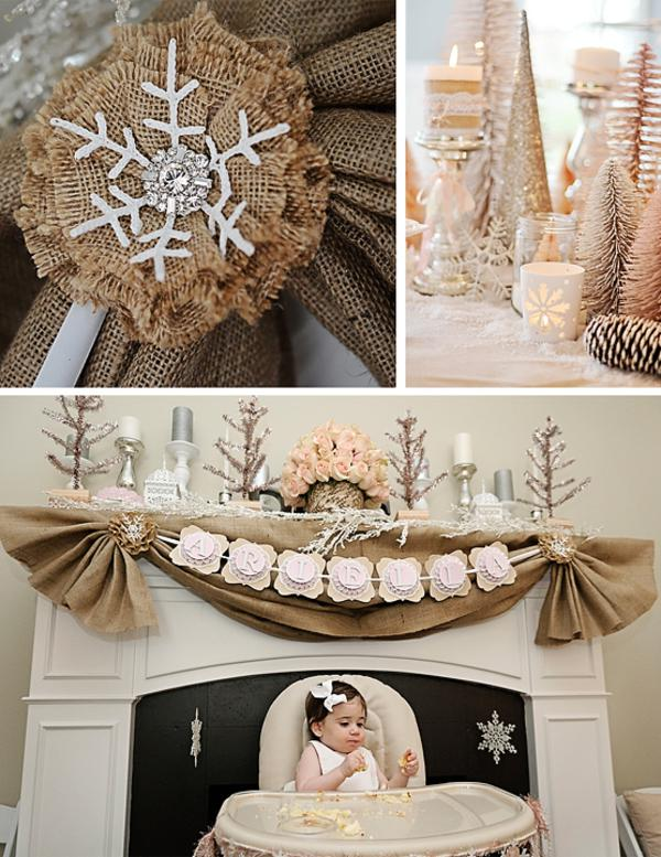 Kara S Party Ideas Rustic Shabby Winter Wonderland Girl