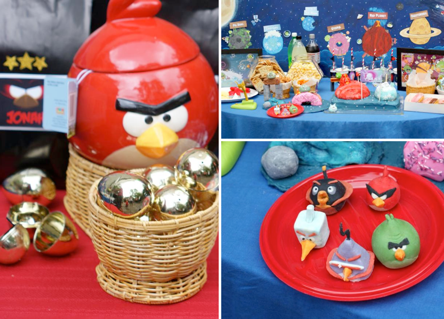 Angry Birds Space Themed Birthday Party via Kara's Party Ideas karaspartyideas.com #angy #bird #space #party #ideas