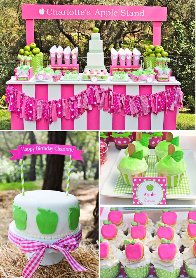 Apple of my eye themed birthday party via Kara's Party Ideas ...