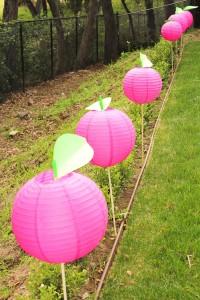 Apple of my eye themed birthday party via Kara's Party Ideas karaspartyideas.com #girl #party #idea #apple #pink #birthday-10