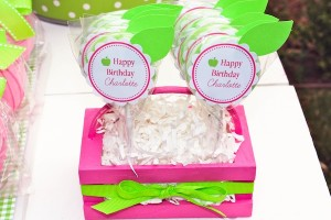 Apple of my eye themed birthday party via Kara's Party Ideas karaspartyideas.com #girl #party #idea #apple #pink #birthday-12