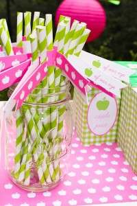 Apple of my eye themed birthday party via Kara's Party Ideas karaspartyideas.com #girl #party #idea #apple #pink #birthday-13