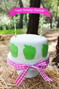Apple of my eye themed birthday party via Kara's Party Ideas karaspartyideas.com #girl #party #idea #apple #pink #birthday-25