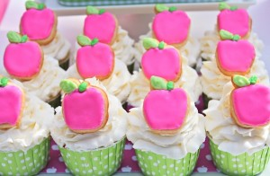Apple of my eye themed birthday party via Kara's Party Ideas karaspartyideas.com #girl #party #idea #apple #pink #birthday-27