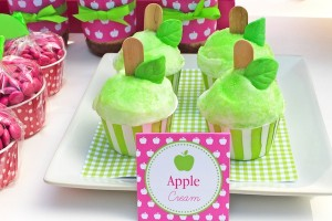 Apple of my eye themed birthday party via Kara's Party Ideas karaspartyideas.com #girl #party #idea #apple #pink #birthday-29