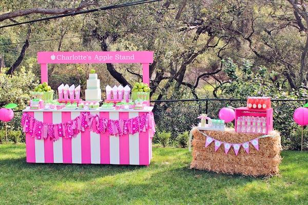 Apple Of My Eye Themed Birthday Party Via Karas Ideas Karaspartyideas Girl Idea Pink 32
