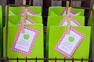 Apple of my eye themed birthday party via Kara's Party Ideas karaspartyideas.com #girl #party #idea #apple #pink #birthday-33