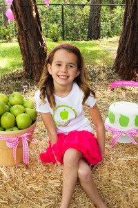 Apple of my eye themed birthday party via Kara's Party Ideas karaspartyideas.com #girl #party #idea #apple #pink #birthday-34