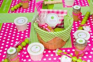 Apple of my eye themed birthday party via Kara's Party Ideas karaspartyideas.com #girl #party #idea #apple #pink #birthday-39