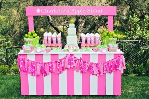 Apple of my eye themed birthday party via Kara's Party Ideas karaspartyideas.com #girl #party #idea #apple #pink #birthday-42