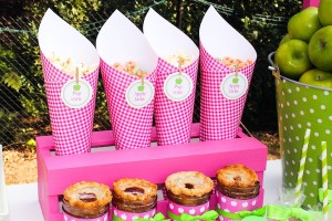 Apple of my eye themed birthday party via Kara's Party Ideas karaspartyideas.com #girl #party #idea #apple #pink #birthday-43