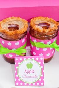 Apple of my eye themed birthday party via Kara's Party Ideas karaspartyideas.com #girl #party #idea #apple #pink #birthday-44