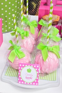 Apple of my eye themed birthday party via Kara's Party Ideas karaspartyideas.com #girl #party #idea #apple #pink #birthday-45