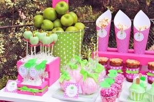 Apple of my eye themed birthday party via Kara's Party Ideas karaspartyideas.com #girl #party #idea #apple #pink #birthday-46