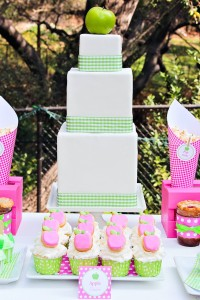 Apple of my eye themed birthday party via Kara's Party Ideas karaspartyideas.com #girl #party #idea #apple #pink #birthday-47