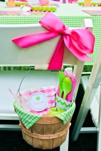 Apple of my eye themed birthday party via Kara's Party Ideas karaspartyideas.com #girl #party #idea #apple #pink #birthday-6