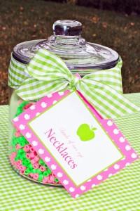 Apple of my eye themed birthday party via Kara's Party Ideas karaspartyideas.com #girl #party #idea #apple #pink #birthday-9